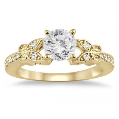 3/4 Carat Diamond Engagement Ring in 14K Yellow Gold