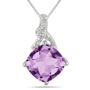 szul amethyst diamond pendant